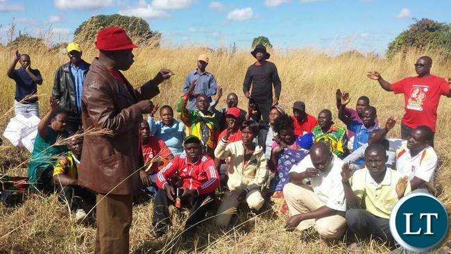 UPND Members meeting in the bush