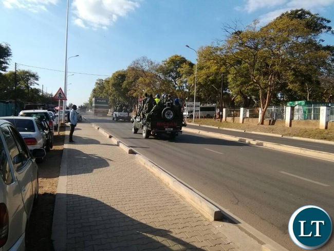 UPND President Hakainde Hichilema and his 5 co-accused being moved back to Mukobeko Maximum Prison