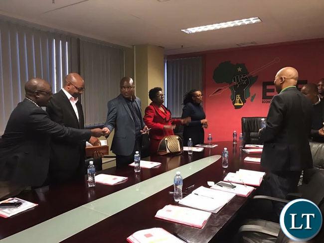 UPND members meeting with EFF eadership