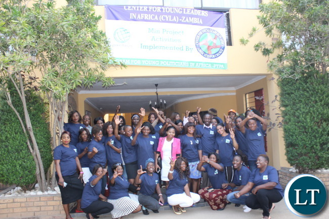 Some of the Youth women who took part in the capacity building workshop