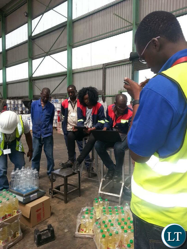 A team of Zambia Weights and Measures Agency inspectors
