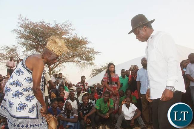 Senior Chief Mukuni of the Bene Mukuni people