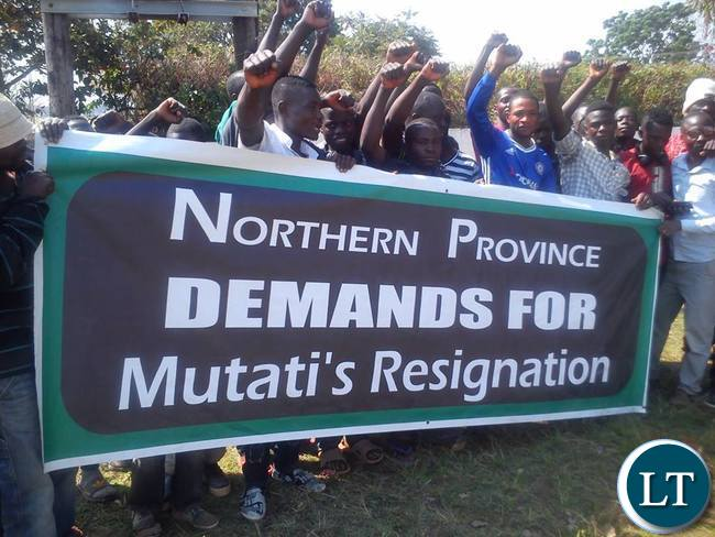 Northern Province protesting against Mutati