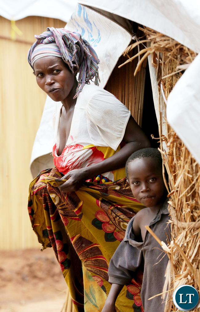 Congolese refugees at Kenani camp transit centre in the Nchelenge district in Zambia