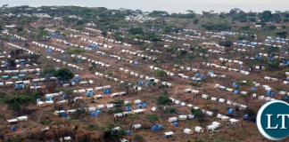 Congolese refugees at Kenani transit centre in the Nchelenge district, 90km from the border, where the Zambian government works with aid agencies to help them