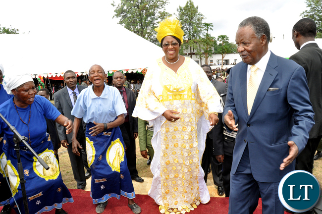 President Chilufya-Dr Christine dance