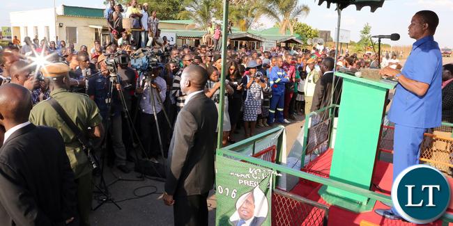 President Edgar Lungu at Solwezi Airport address 0195_1