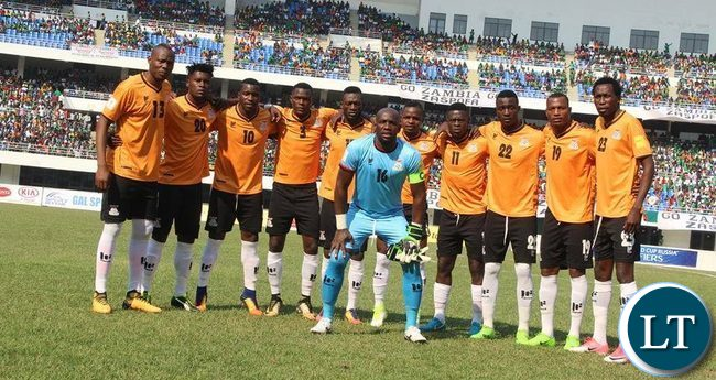 The Zambia National Soccer team