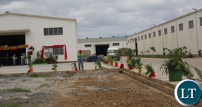 The newly commissioned  multi-million fertilizer plant in the picture above which is  built in Kabwe will help to enhance agricultural activities in Kabwe and the entire country. Picture by SUNDAY BWALYA/ZANIS