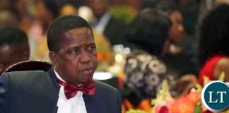 President Edgar Lungu at UNZA Alumni Fund raising Dinner