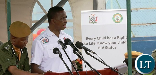 """President Edgar Lungu joins the commemoration of World Aids Day at Nkoloma Stadium in Lusaka where he honoured First President of Zambia Dr Kenneth Kaunda with the """"Lifetime Achievement Award, """" on Monday, 11th December, 2017. Pictures by Eddie Mwanaleza, State House."""