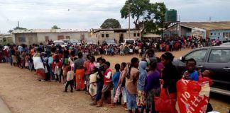 Kanyama Residents queue up for Cholera vaccine