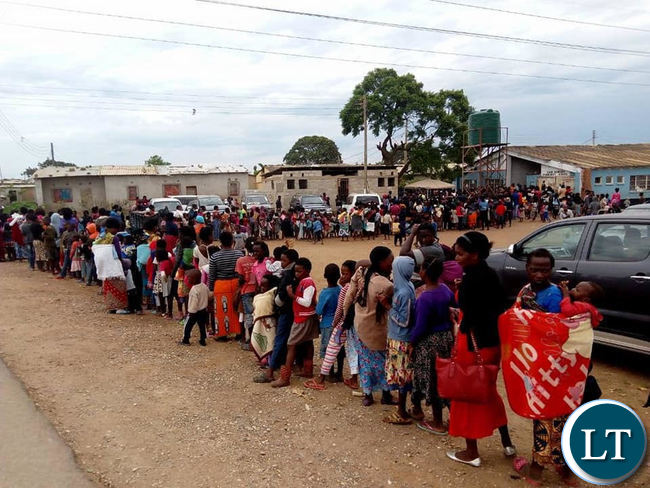 Kanyama Residents queue up for Cholera vaccine