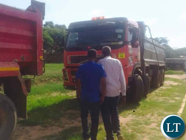 One of the Donated Trucks