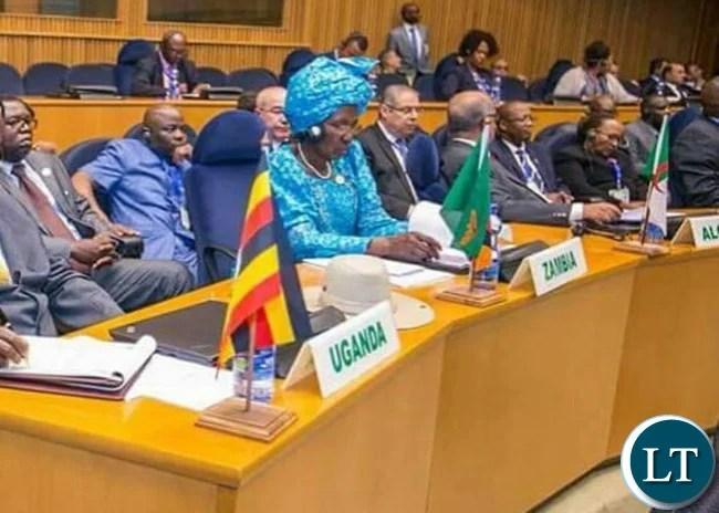 Vice President Inonge Wina at AU Summit