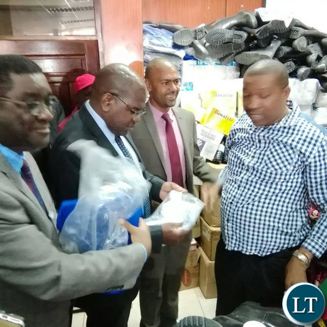 Health Minister Dr Chitalu Chilufya and his Local Government counterpart Vincent Mwale by UPND deputy secretary general Patrick Mucheleka