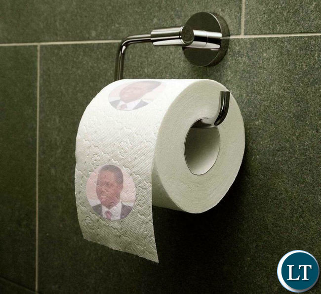The Ruling Patriotic Front Has Warned That It Will Report Anyone Found Circulating Images Of Toilet Papers Which Shows President Edgar Lungus Portrait
