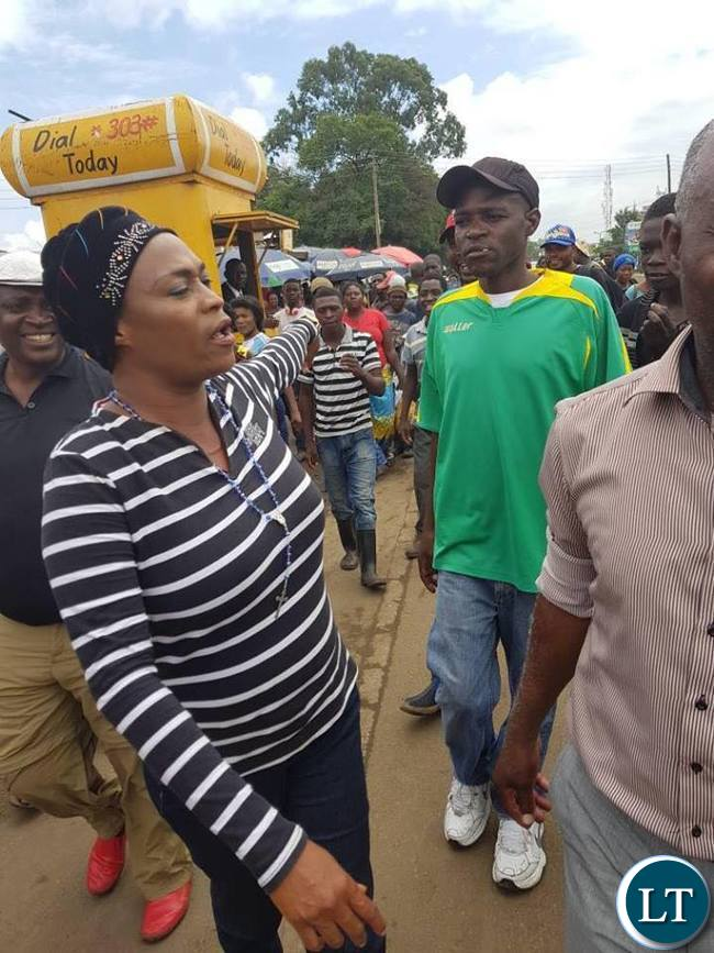 Deputy Secretary General Hon Mumbi Phiri today took time to visit Lusaka City Market and Soweto markets