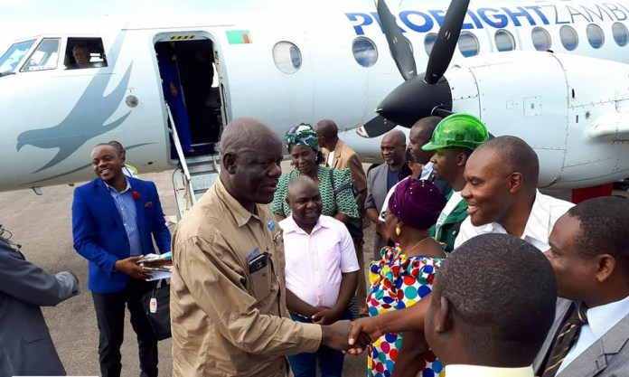 PF CEO Davies Mwila arriving in Solwezi to welcome defectors from other parties