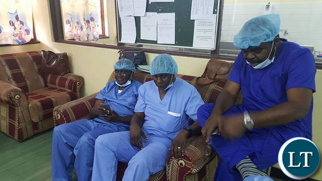 Surgeons at UTH during the operation