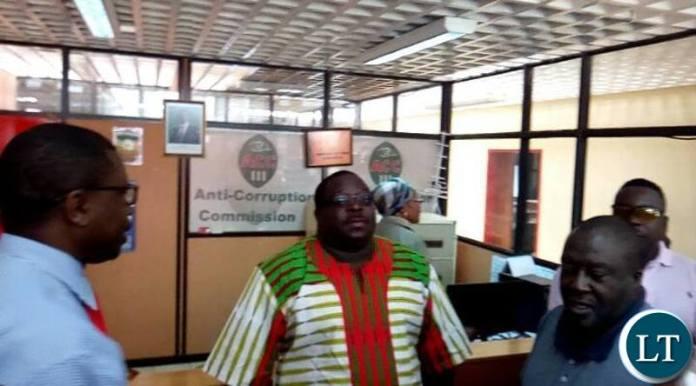 Mr Kambwili at ACC Headquaters