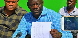 Party Secretary General Davies Mwila