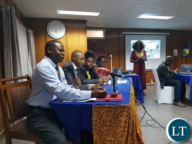 Panelists during a public discussion organsied by the Oasis Forum in Lusaka on Tuesday evening.