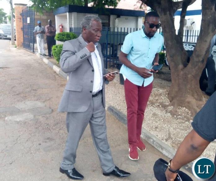 Mike Mulongoti leaving CfB Medical Centre