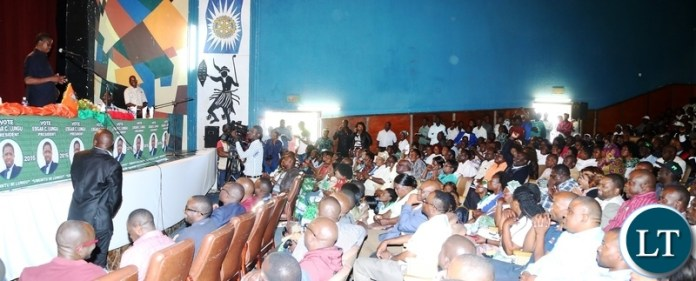 President Edgar Lungu addressing PF Copperbelt Officials in Ndola