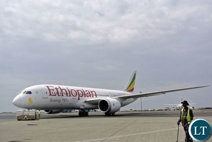 An Ethiopian Airlines Dreamliner jet. Photographer-Jenny Vaughan-AFP via Getty Images