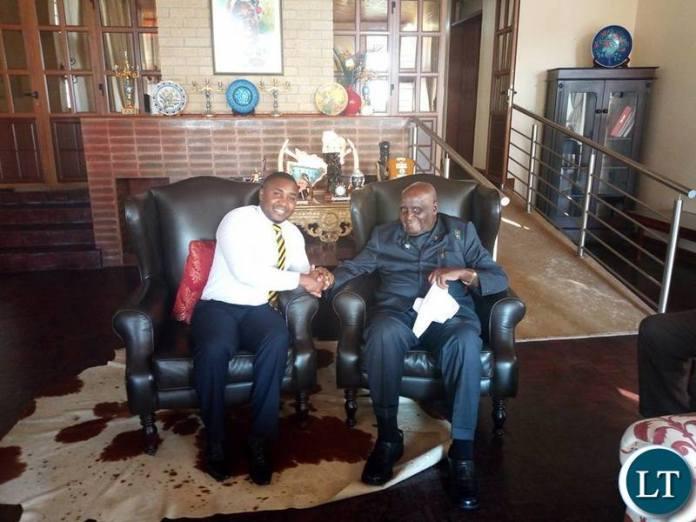 Jackson Silavwe with KK