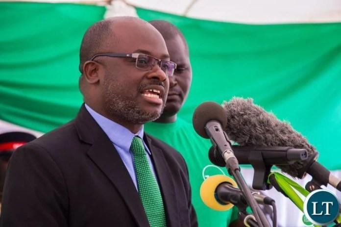 Zamtel CEO Sydney Mupeta speaking during the commissioning of the communication tower in Dundumwezi