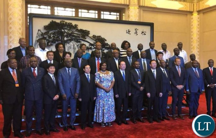 Information and Broadcasting Services Minister Dora Siliya in China