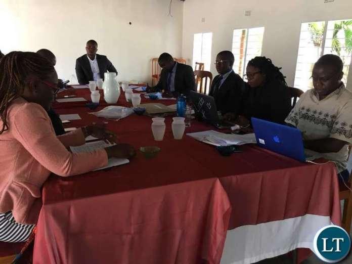Zambian Open University Student Union (ZAOUSU) meeting in Kitwe