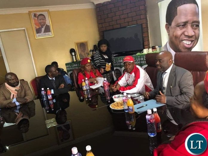 Meeting of PF and UPND at the PF Party Headquarters