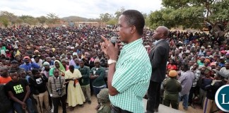 President Edgar Lungu address a Public Rally at Kasenengwa Primary School in Eastern province on Friday