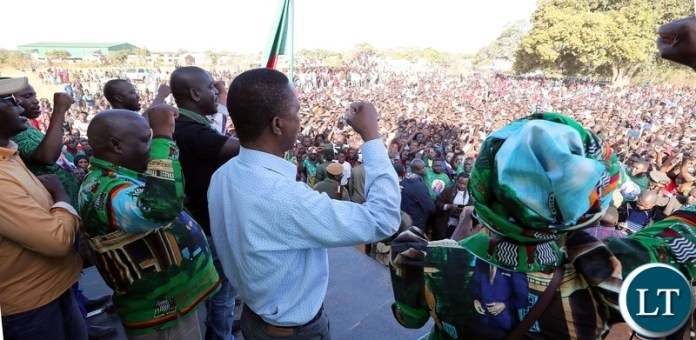 President Edgar Lungu at the Public rally in Lumezi Eastern Province on Saturday