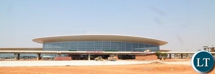 Looks of the 82% New Passenger Terminal at Kenneth Kaunda International (KKIA) the facility costing $360 million