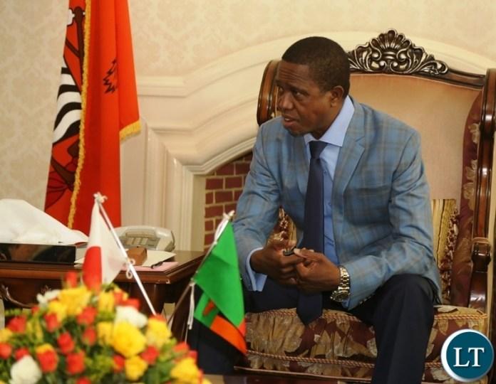 President Edgar Lungu at State House