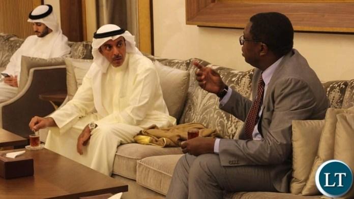 Minister of Foreign Affairs Joseph Malanji in Kuwait