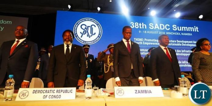 The Opening of the 38th Ordinary Southern African Development Community (SADC) Summit of Heads of State