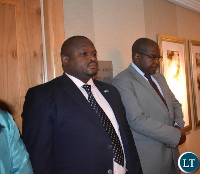 Hon. Alexander Chiteme and Hon. Chitalu Chilufya