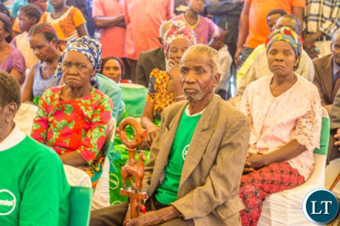 Some of the local Ngabwe residents who came to attend the launch of a new communicator on Wednesday