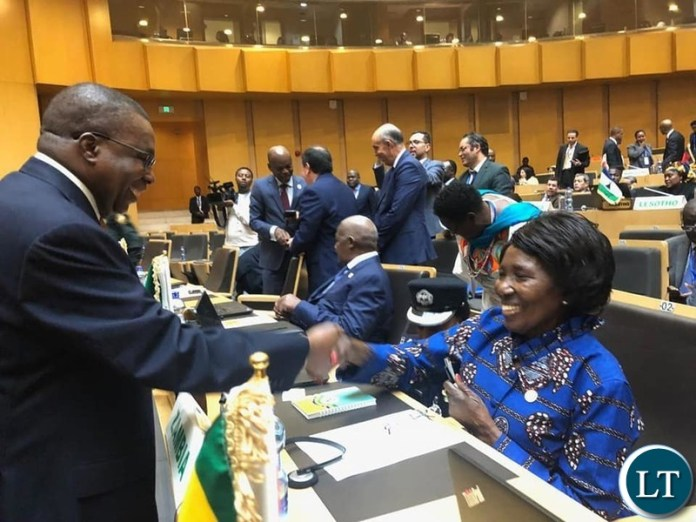 Inonge Wina at the AU Summit