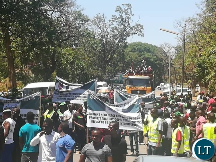 PF Youth in a march Protest