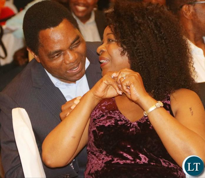 HH and his wife Mutinta having a good time during the UPND 20th anniversary dinner at Hotel Intercontinental Lusaka