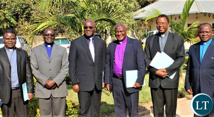The Representatives from The three church mother bodies namely the Council of Churches in Zambia, the Evangelical Fellowship of Zambia and the Zambia Conference of Catholic Bishops