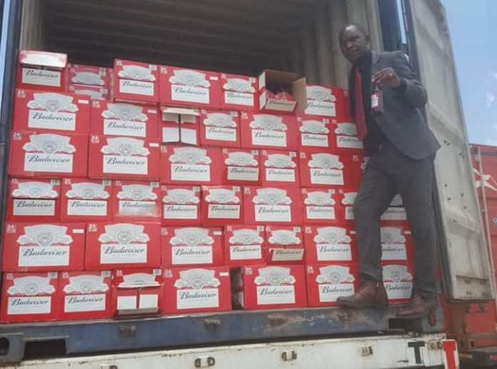 The alcohol believed to be meant for Christmas celebrations worth about K700, 000 in taxes