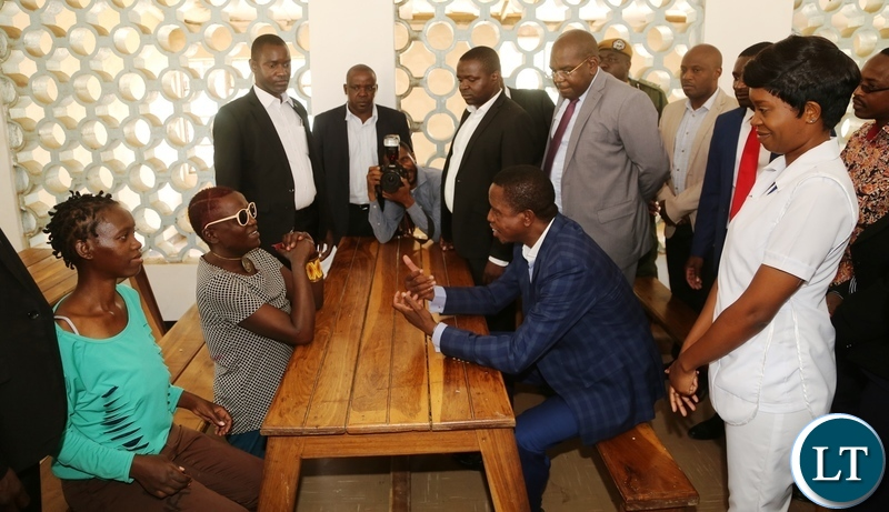 Zambia : President Lungu visits Chainama Hills Mental