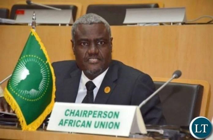 African Union Chairperson Moussa Faki Mahamat
